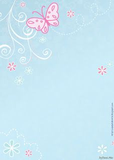 pink butterfly on blue background Stationary Printable, Printable Lined Paper, Cellphone Wallpaper, Iphone Wallpaper, Scrapbook Paper, Scrapbooking, Framed Wallpaper, Envelopes, Hello Kitty Wallpaper