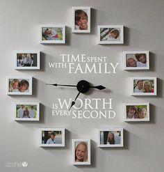 Family Photo Wall Clock