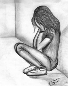 Pencil drawings, simple sketches, crying girl drawing, girl drawing easy, b Cartoon Girl Crying, Crying Girl Drawing, Cry Drawing, Girl Drawing Easy, Anime Girl Crying, Sad Anime Girl, Drawing Eyes, Crying Girl Sketch, Drawing Feelings