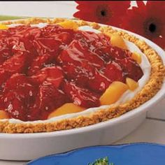 Peach Strawberry Pie Recipe. This is my favorite pie ever using my 2 favorite fruits! It's delicious and easy to make!