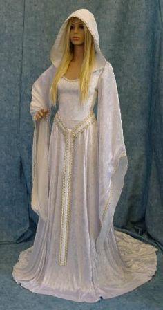 white medevil wedding dress | Medieval Renaissance wedding dresses in Gretna | Elven wedding dress