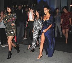 Kim, Kourtney, Kylie, Kendall, and Kris Jenner head out to the yacht for Khloe Kardashian's 30th birthday party on June 27.