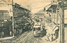Pinoy Kollektor: Philippine TRAMVIAS (Street Cable Cars) in Postcards. Pinoy's first modern transportation Philippines Culture, Manila Philippines, Filipino Architecture, Cable, Filipiniana, Pinoy, Chinese Art, Homeland, Postcards