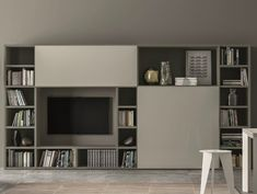 Mueble modular de pared lacado SPEED V - Dall'Agnese