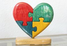 Win a gorgeous Handmade Wood Autism Heart from Spiritual Taco! A $45 value. Read more about this couple and their quest for Autism Awareness. How has Autism affected you or someone you know? For more ways to win,  follow us and repin.