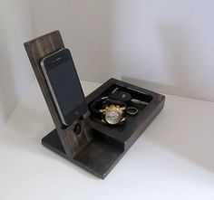 Iphone Dock with Valet Tray