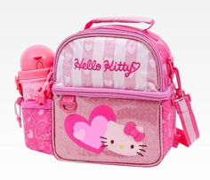 Hello Kitty Lunch Bag With Accessories: Hearts
