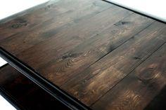 Mesa envejecida de madera y hierro (100 x 70 x 40 cm)  #Arte, #madera,  #muebles diseño #artesano. #Art, #metal , #wood , #furniture craftsman design
