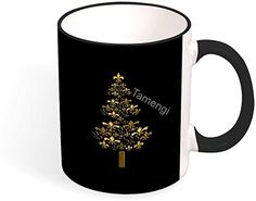 Gifts In A Mug, Great Gifts, White Brand, Christmas Mugs, Hot Coffee, Color Names, White Ceramics, Black Gold, This Or That Questions