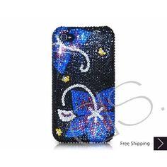 Symmetry Bling Swarovski Crystal iPhone 5 Case - Black Blue