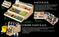 Paint and Tool Rack Hobby Desk, Hobby Room, Dremel, Work Desk Organization, Painting Station, Paint Games, Minis, Gym Room, Plastic Model Kits