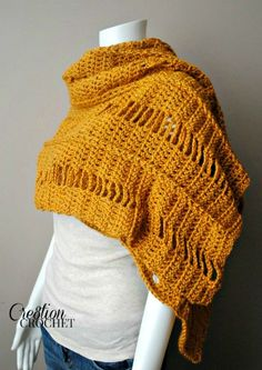 FREE crochet pattern for the Braided and Broken Wrap