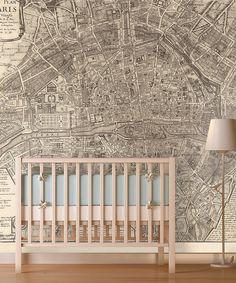Look at this #zulilyfind! Sepia Map of Paris Wallpaper by Swag Paper #zulilyfinds