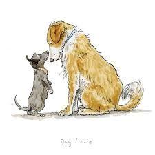 dog art Big Love Print by Anita Jeram Art Pantry - dog Animal Drawings, Cute Drawings, Dog Drawings, Dog Sketches, Anita Jeram, Dog Illustration, Animal Illustrations, Dog Paintings, Big Love