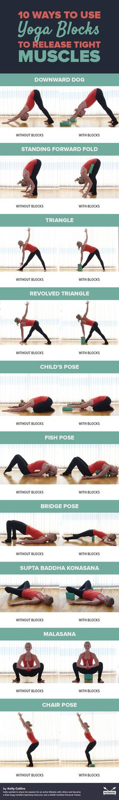 Whether you're new to yoga or trying to ease your way back in, blocks are great tools to use to help you get into poses safely. Read the full article here: http://paleo.co/yogablocksmuscles