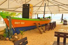 Caribbean Nicaragua - Big Corn Island - Picnic Beach Boat Bar