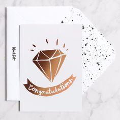 Blacklist Studio Single Greeting Card - Congrats