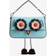 Fendi Fendi Micro Baguette Shoulder Bag (1575395 IQD) ❤ liked on Polyvore featuring bags, handbags, shoulder bags, turquoise, white leather shoulder bag, genuine leather handbags, fendi shoulder bag, white handbag and white leather purse