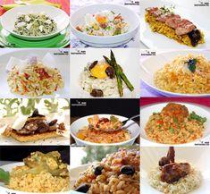 En nuestros recopilatorios dominicales hemos tenido como protagonista el arroz, pero eran recetas en paella, también hemos dedicado esta sección a las Doce recetas de risotto, y podremos seguir haciendo especialidades con arroz, pero hoy vamos a hacer un recetario de arroz variado, Doce recetas de arroz en el que utilizamos distintos métodos de cocción, algunas de las múltiples variedades de arroz, y diferentes combinaciones.Todos los elogios que podamos realizar al arroz se van a quedar… Rice Recipes, Mexican Food Recipes, Ethnic Recipes, Healthy Eating Tips, Diet And Nutrition, Tasty, Yummy Food, Vegetable Drinks, Recipe Collection