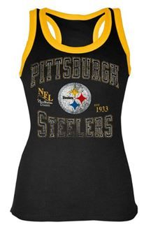 Show details for Pittsburgh Steelers Women's Castleton Black Tank Top
