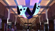 Daniel Canogar has been creating sculptural LED screens using LED tiles specially fabricated for these projects.