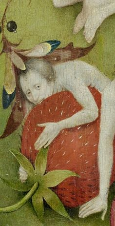 Strawberries as an Earthly Delight - Hieronymous Bosch and The Garden of Earthly Delights (c. 1510-1515), detail.