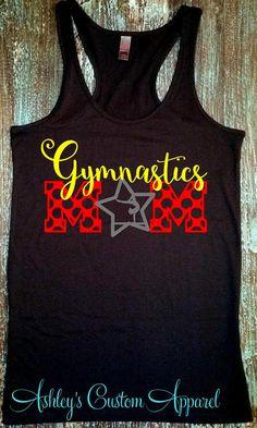 Gymnastics Mom Shirt Gymnastics Shirt by AshleysCustomApparel