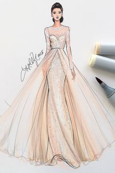 Ideas fashion drawing dresses gowns inspiration for 2019 Wedding Dress Sketches, Dress Design Sketches, Fashion Design Drawings, Fashion Sketches, Wedding Dresses, Wedding Dress Illustrations, Wedding Drawing, Dress Designs, Fashion Drawing Dresses