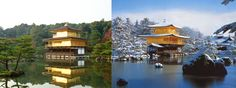 Kinkaku-ji - A gold temple inserted in a well-kept garden Birth: First in 1397 and then rebuilt many times, last time in 1955 Location: Kyoto, Japan Architect: Ashikaga Yoshimitsu
