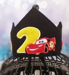Lightning Mcqueen birthday crown Lightning by MyHeartnSoulBoutique, $20.00