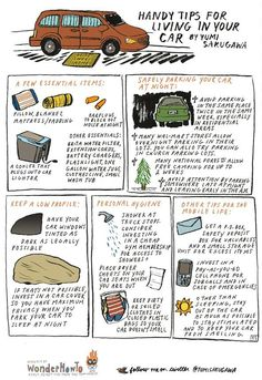 frugal tips for living in your car..