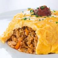 Omurice (オムライス) ~ Savory sweet chicken fried rice topped with an omelette, omurice (オムライス) is a modern Japanese culinary staple.