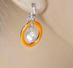 Multiple Sclerosis Awareness Hoop Earrings by PixieDustFineries