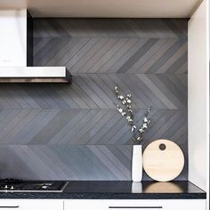 # 28 # for 28 ideas for the kitchen diy backsplash cheap noble . # backsplash # for # kitchen Kitchen Splashback Tiles, Kitchen Tiles Backsplash, Kitchen Decor Grey, Kitchen Wall, Home, Interior, Diy Kitchen Backsplash, Grey Floor Tiles, Home Decor
