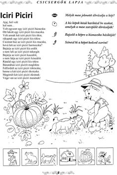 "Képtalálat a következőre: ""iciri piciri színező"" Preschool Activities, Adult Coloring, Word Search, Diagram, Bullet Journal, Google"