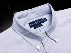 Shop at designerclothingfans.com for Men's Casual Shirts. Find a variety of men's button-down shirts, including flannel shirts, oxford shirts, chambray shirts & more | RALPH LAUREN Mens L Solid Blue Oxford Long Sleeve Button-Down Shirt~Color Pony #RalphLauren | Men's Fashion & Style | Menswear | Men's Apparel | Men's Clothes | Moda Masculina.