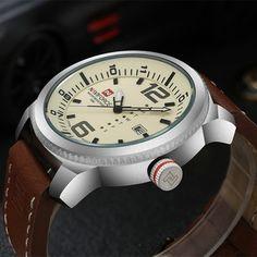 Relógio com Pulseira de Couro Curren  Compre agora: http://mayortstore.com.br/homem/acessorios1/relogios/naviforce/relogio-naviforce-casual-pulseira-de-couro/
