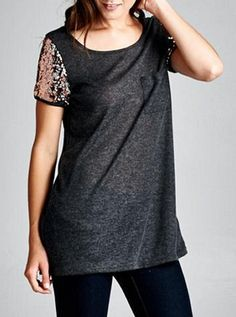 Sequin Sleeve Top available at www.ShopChloes.com