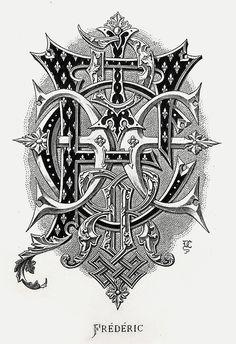 "Monogram ""Frederic"" by Charles Demengeot - 1881"