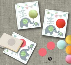 Baby Shower Party Favors for eos lip balm by ThePrintablePapery