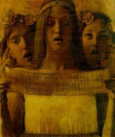 Three Fin-de-Siecle Ladies Singing Berlioz  Louis Welden Hawkins  Detail