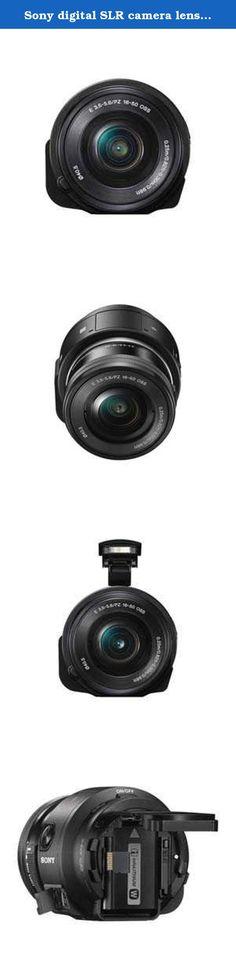 Sony digital SLR camera lens style camera QX1 power zoom lens kit ILCE-QX1L. APS-C employs a sensor and lens exchange.