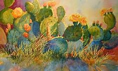 CACTUS SUNRISE by Mary Shepard Watercolor -