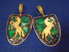 Check out this item in my Etsy shop https://www.etsy.com/listing/266348358/medieval-unicorn-mosaic-earrings