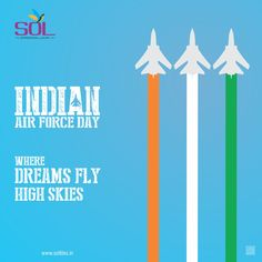 Where dreams fly high skies INDIA AIR FORCE DAY. #IndianAirForce #IAF #AirForce #army #navy #marines #India