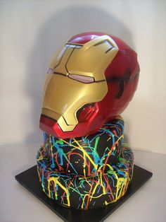 Iron man Cake Auckland $349 ** Mask supplied by client**