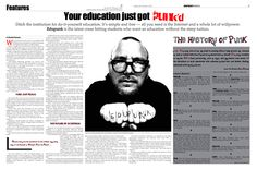 """You education just got punk'd,"" Features Editor and layout, The Charlatan History Of Punk, Willpower, Journalism, All You Need Is, Brittany, Editor, Layout, Student, Social Media"