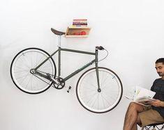 Wall mount for road bike or fixie bike. Including wall attachment Maximum length of handlebar 48 cm Dimensions: 30 cm deep 24 cm wide 11 cm tall Materials used: Birch Multiplex untreated Bike Wall Hooks, Bicycle Wall Hanger, Wall Mount Bike Rack, Bike Shelf, Wooden Wall Hooks, Bicycle Rack, Vertical Bike Rack, Bike Storage Solutions, Range Velo