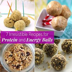 Try these 7 irresistible energy ball recipes. Energy balls are the perfect midday or afternoon snack. They offer a satiating combination of protein, carbs, and fats. Pair one or two with a piece of fruit before or after a workout and save yourself the money of store-bought bars and bites.