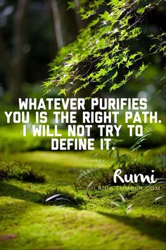 Whatever Purifies you Is the Right Path .Rumi I LOVE these words Muna Abu Dalbouh Sufi Quotes, Spiritual Quotes, Wisdom Quotes, Buddhist Quotes, Spiritual Awakening, Kahlil Gibran, Carl Jung, Rumi Poem, Jalaluddin Rumi